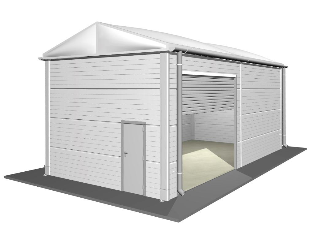 Isolierte Leichtbauhallen 5 m, SH 4,20